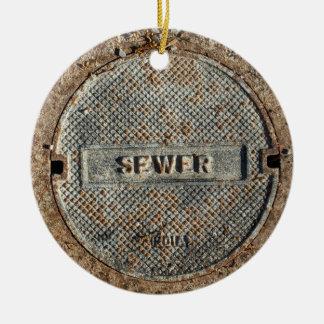 Officiële de Dekking van het Mangat van het riool Rond Keramisch Ornament
