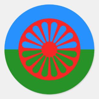 Officiële de zigeunervlag van de Zigeunertaal Ronde Sticker