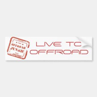 Offroad Sticker van de Bumper van de Junkie - leef Bumpersticker