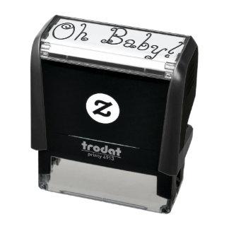 Oh baby rubberzegel  zelfinktende stempel