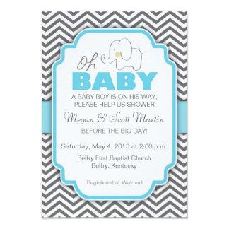 Oh Baby shower van de Olifant van het Baby het Kaart