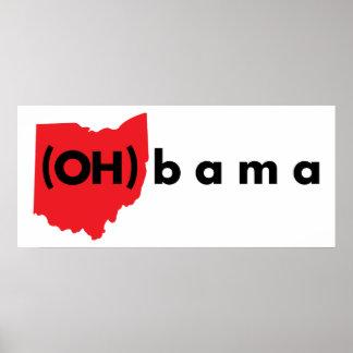 (OH) bama - Rood en Zwarte Poster