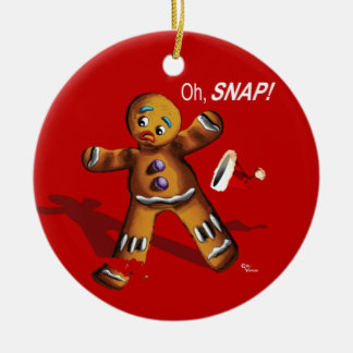 Oh Breuk! (Het rode) Ornament van Kerstmis