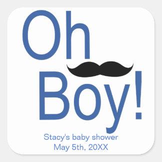 Oh de Sticker van het Baby shower van de Snor van