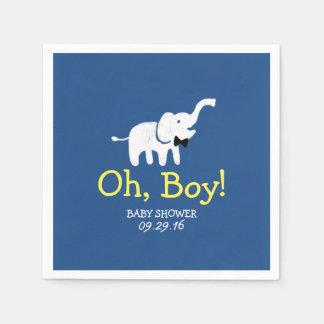 Oh het Marineblauwe Baby shower van de Olifant van Papieren Servetten