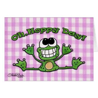 Oh, Hoppy dag-Kikker Kaart