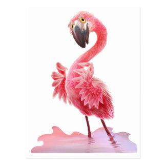 Oh ja Flamingo! Briefkaart