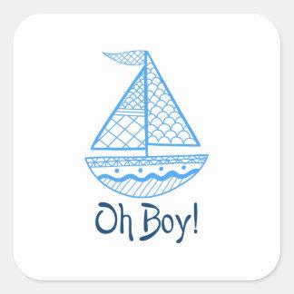 Oh Jongen! Vierkant Stickers