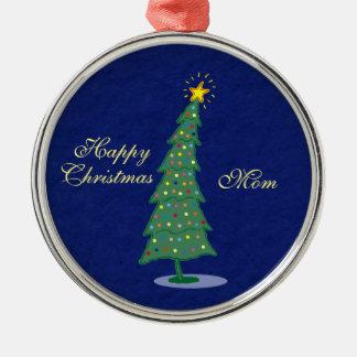 Oh Kerstboom Zilverkleurig Rond Ornament