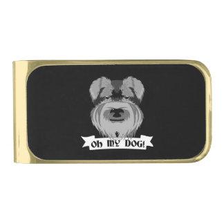 Oh Mijn Hond Terrier Vergulde Geldclip