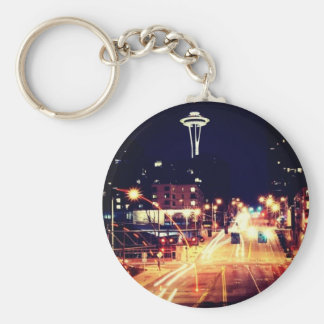 oh Seattle Basic Ronde Button Sleutelhanger