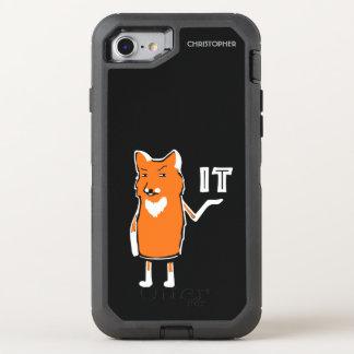 Oh Vos het Grappige Sarcastische Humoristische OtterBox Defender iPhone 8/7 Hoesje