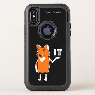 Oh Vos het Grappige Sarcastische Humoristische OtterBox Defender iPhone X Hoesje