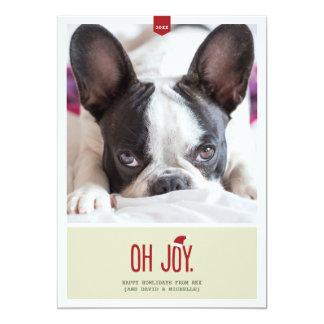 Oh Vreugde | de Grappige Kaart van de Foto van de 12,7x17,8 Uitnodiging Kaart