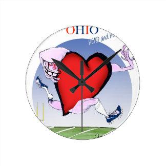 Ohio hoofdhart, tony fernandes ronde klok medium