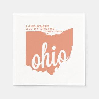 Ohio | liedlyrische gedichten | perzik wegwerp servetten