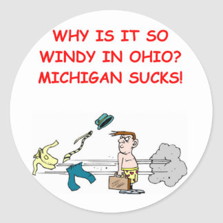 Ohio Michigan grap Ronde Sticker