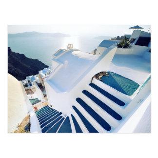 Oia van Santorini Stappen, Griekenland Briefkaart