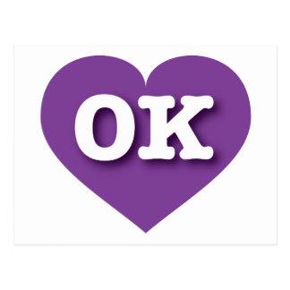 Oklahoma Purple Heart - Grote Liefde Briefkaart