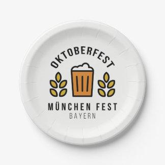 Oktoberfest Beerfest Munchen Fest Beieren Papieren Bordje