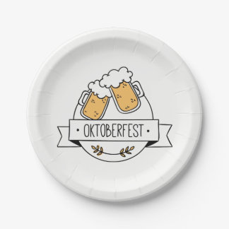 Oktoberfest Beerfest Papieren Bordje