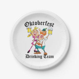Oktoberfest die Team drink Papieren Bordje