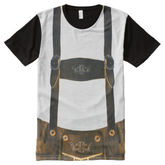 Oktoberfest Duitse Lederhosen All-Over-Print T-shirt