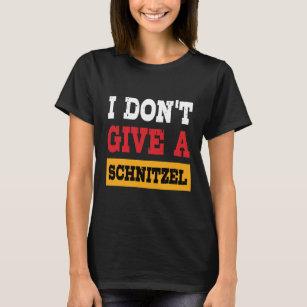 Oktoberfest geeft Schnitzel geen Duitse Vlag T Shirt