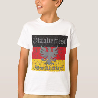 Oktoberfest Verontruste Vlag T Shirt