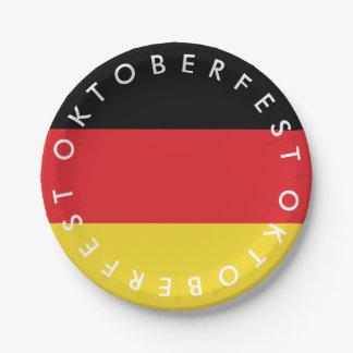 Oktoberfest. Vlag van Duitsland Papieren Bordje
