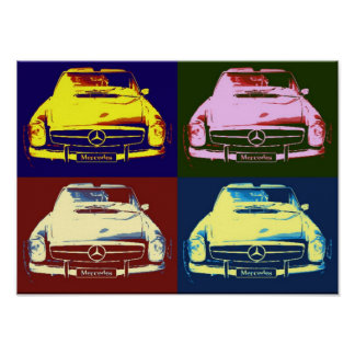 Oldtimer mercedes Collage Poster by N.P.