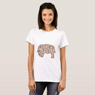 olifant in luipaarddruk t shirt