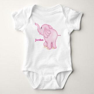 Olifant van het Baby van het kind de Leuke Roze Romper