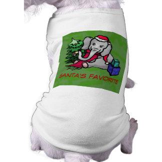 Olifant van Kerstmis van de Cartoon van de T-shirt