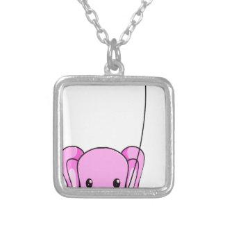 olifant zilver vergulden ketting