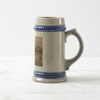 """Olifanten bij de Waterpoel"" de Stenen bierkroes Bierpul"
