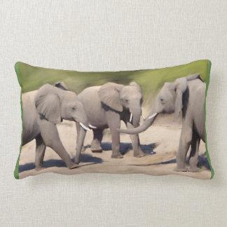 Olifanten bij Spel Lumbar Kussen