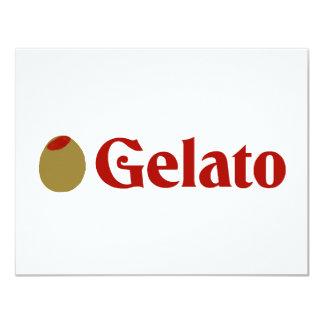 Olijf (de Liefde van I) Gelato 10,8x13,9 Uitnodiging Kaart