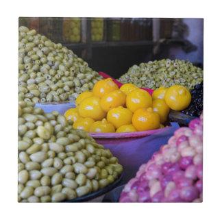 Olijven en Citroen bij Markt Keramisch Tegeltje