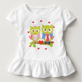 Oliver Owl Ruffle van de Liefdes van Ava T-shirt