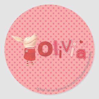 Olivia - 1 ronde sticker