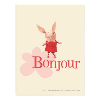 Olivia - Bonjour Briefkaart