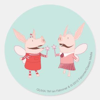 Olivia en Francine - Fee Ronde Sticker