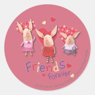 Olivia - Vrienden voor altijd Ronde Sticker