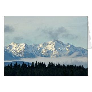 Olympische Bergen in de Staat van Washington Briefkaarten 0