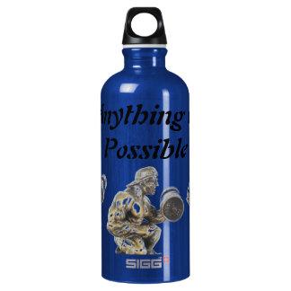 Om het even wat van Mogelijke Weightlifting Aluminium Waterfles