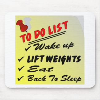 Om het Kielzog van de Lijst te doen hef Gewichten  Muismat