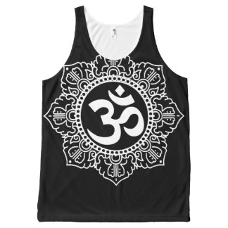 Om Mandala van de Hindi Mouwloos onderhemd All-Over-Print Tank Top