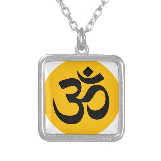 Om Mantra het Art. van de Yoga van Aum Zilver Vergulden Ketting