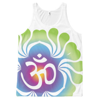 Om mouwloos onderhemd All-Over-Print tank top